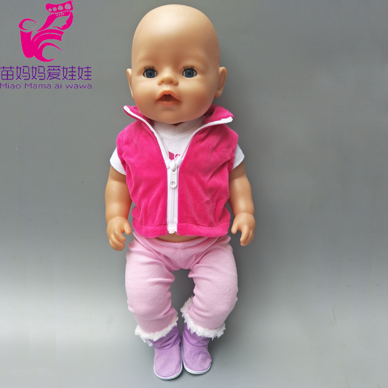 Outfit winter Clothes vest pants for American Girl doll Coat + pants for 43 CM  baby born doll clothes