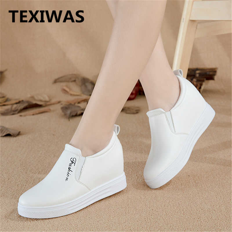 587f7d5fb235 TEXIWAS женская повседневная обувь, весенне-осенние кроссовки, женская обувь  на платформе,