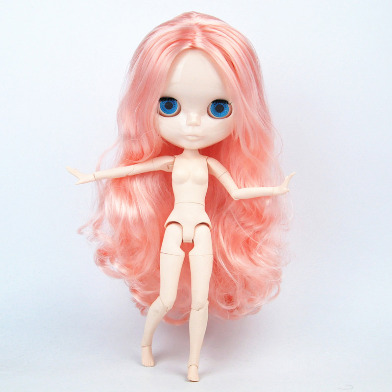 Nude Doll Candy Blonde hair Centre Parting wave hair Blyth Dolls Joint Body DIY BJD toys Fashion Dolls 19 Joints toy for Girl 7a mink peruvian virgin hair body wave 4 bundles unprocessed human hair weave peruvian body wave