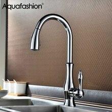 Хромированный кухонный смеситель robinet cuisine с одной ручкой кухонный смеситель для воды 360 Поворотный носик съемный кухонный кран