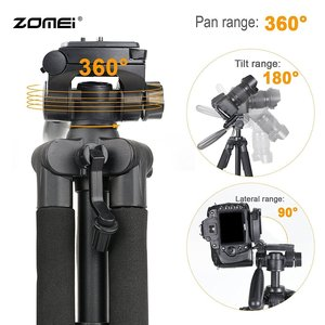Image 4 - Professional travel Q111 portable aluminum tripod with digital camera SLR accessories tripod stand for digital SLR camera