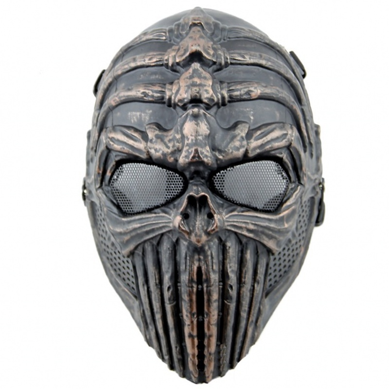 DC07 Military Tactical Spine Tingler Skull Skeleton Full Face Airsoft Mask Paintball Wargame Protection Cosplay Halloween Party