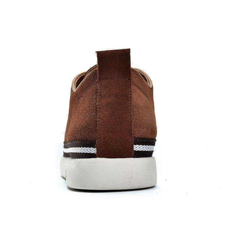 Casuais Da Skate Sapatos Lace Altura Aumento Moda brown outono Camurça Cm blue Brown Black De Masculino Primavera up Genuíno dark Homens 6 Couro Invisibilidade OqYAwnT