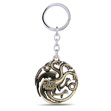 House Targaryen Pendant Keychain – Three Colors Available
