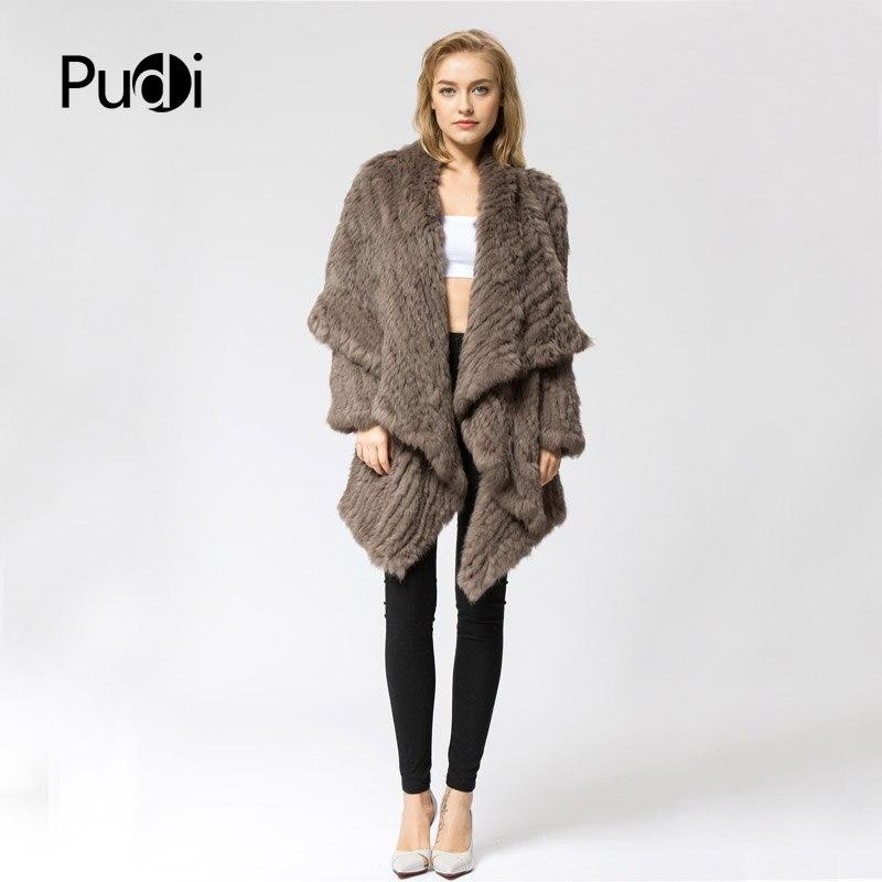 CR060 2 вязаные 100% натуральный мех кролика пальто куртка пальто русский женские зимние толстые теплые натуральная пальто с мехом
