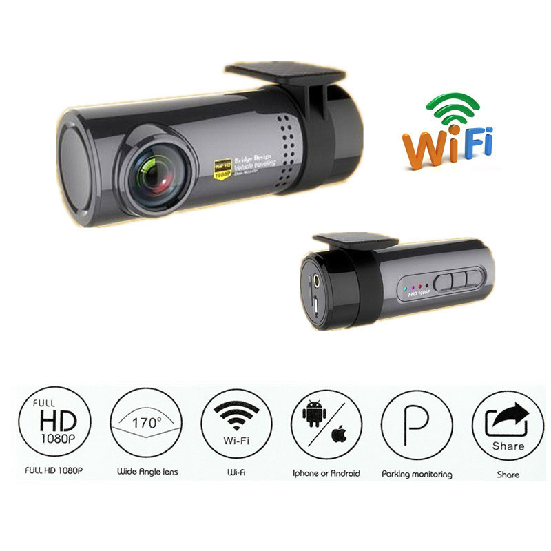 Car DVR Dash Camera 140 Degree Rear Viewing Angle Front USB Port In-car Camera Reversing Parking for Android System