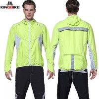 Kingbike ciclismo caminhadas correndo jaqueta com capuz das mulheres dos homens ao ar livre esporte à prova de vento jérsei cardigan secagem rápida uv proteção solar