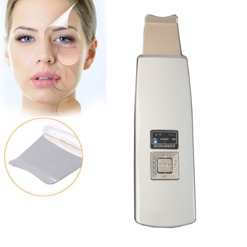 Multifunction Ultrasonic Ion Pad Skin Scrubber Rechargeable Ultrasound Face Pore Cleaner Deep Cleaning Facial Peeling Massager ultrasonic skin scrubber face cleaning pore cleaner acne removal peeling facial massager exfoliator skin care machine