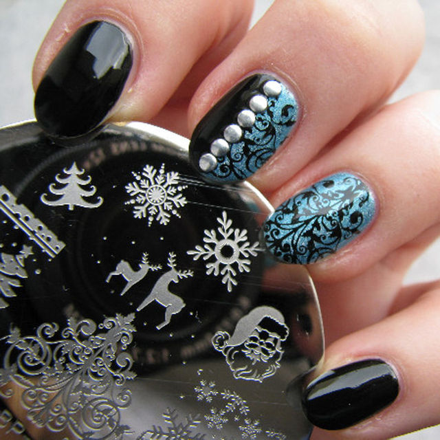 New Style Christmas Nail Art Printing Plate Image Stamping Plates ...