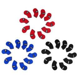 10 шт. Универсальный неопреновый защитный чехол для гольф-клуба с железной головкой, клиновидный носок, защитный чехол для головы, защитный