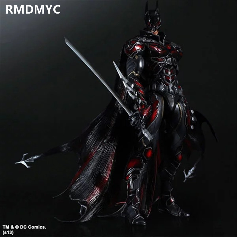 ФОТО RMDMYC 26cm High-quality Play Arts Kai The Avengers Action Figures Toys Bat Man Bruce Wayne Variant PVC Collection Dolls gifts