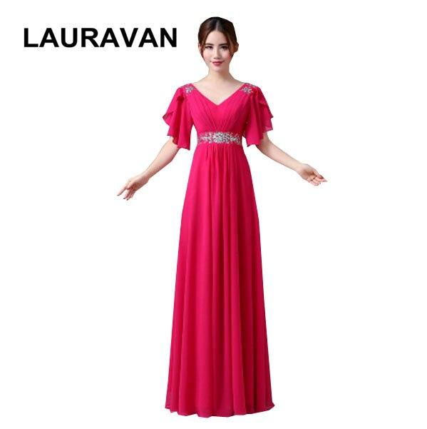 Vestidos De Chiffon Bridesmaid Formal Floor Length Gowns