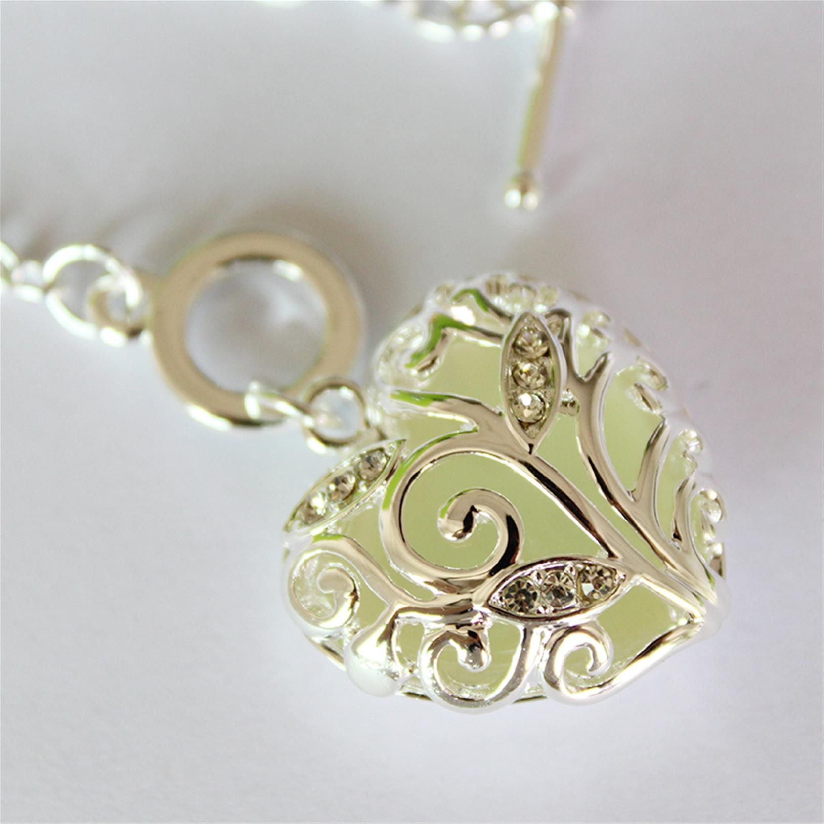 Fashion Silver Luminous Armband Glödande i Dark Heart Shaped - Märkessmycken - Foto 4