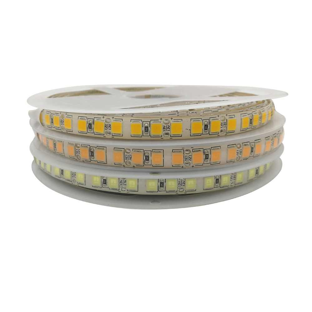 DC12V 5054 LED Strip 120LED/M 5M Flexible Tape Light Warm White Cold White Ice Blue Pink Golden Yellow Single Row Strip 10mm PCB