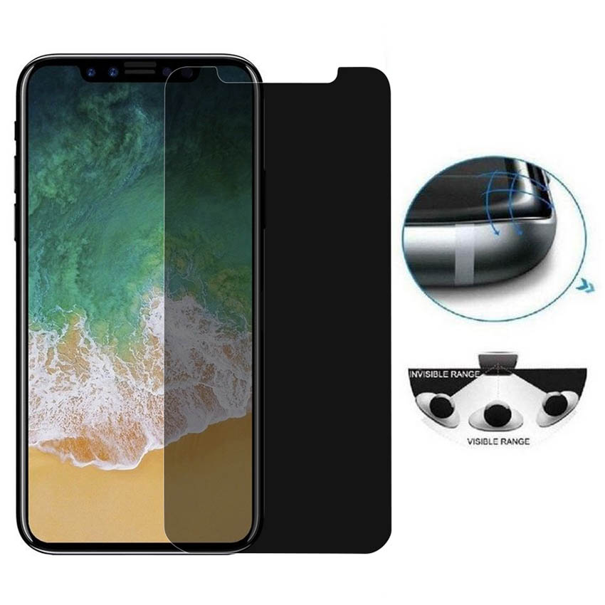 Privacy Protection Screen Protector For iPhone Xs Max XR