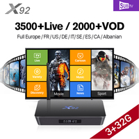 X92 Smart Android TV Box 3g Ram TV Receivers H 265 STB With Europe HD SUBTV