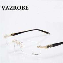Vazrobe frameless เลนส์แว่นตา แว่นตาทองกรอบแว่นตาผู้ชายสำหรับชายออพติคอลสายตาสั้น