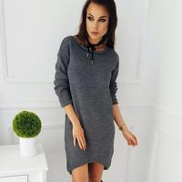 Autumn Causal Robe Winter Women Dress Knitted Sweater Dresses Basic Office Dress Female Vestidos Long T