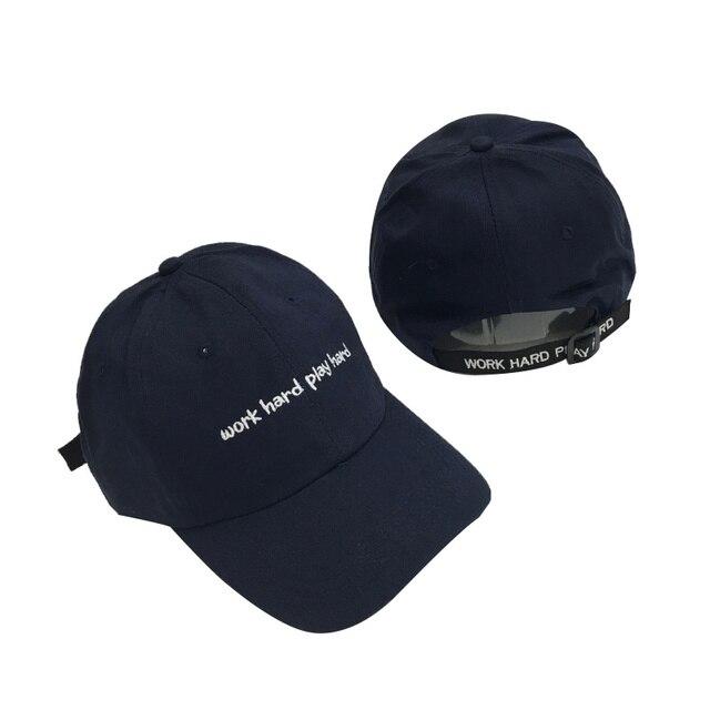 Casual Mujeres Snapback Caps Carta Bordado Trabajo Duro Jugar Duro Gorra de  béisbol de Hip Hop caee6e0c8ac