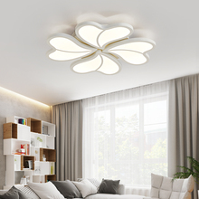 White LED Ceiling Lights AC90-260V Modern Ceiling Lamp Metal Acrylic Lighting Fixtures For Bedroom Living Room lampara techo