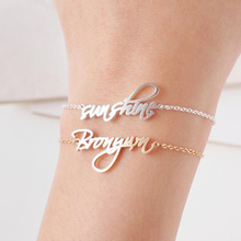 Custom Baby Nameplate Bracelets Handmade Women Men Personalized Name Dainty Initials Bracelet Bangle Friendship Jewelry Gift BFF