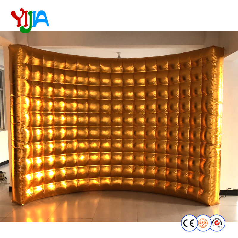 Wedding Party 10ft photo booth backdrop inflatable wall silver or gold outside or inside