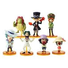 Figuras de acción de One Piece, 7 unids/lote de 7cm, película de Anime Gold Vol.4, Sabo Koala Leisz Max Nami Sanji Usopp Mini, juguete de modelos coleccionables en PVC