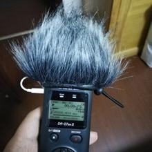 Открытый искусственный мех ветер микрофон крышка муфта лобовое стекло рукав щит для Tascam DR07MKII Dead cat для Tascam DR07MKII