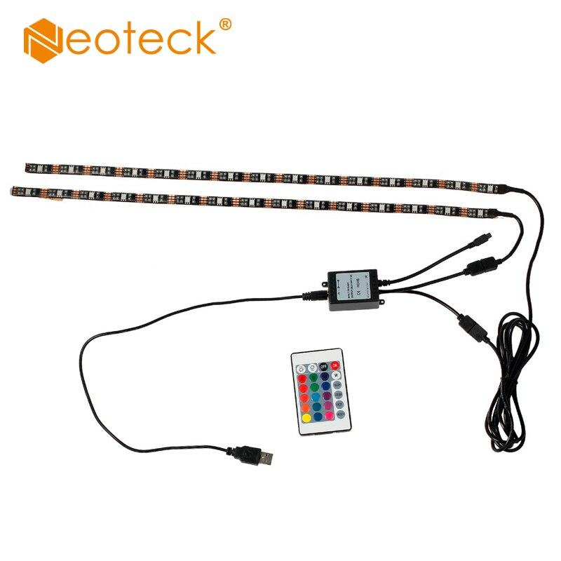 2x usb led rgb multi color 0 5m strip light mood lamp tv backlight accent kit led strip ribbon