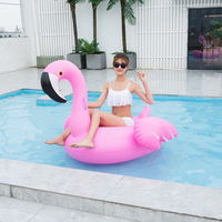 150CM Giant Inflatable Flamingo Swan Swimming Pool Float Tube Raft Adult Giant Float Ride On Swimming Ring Summer Party Pool Toy