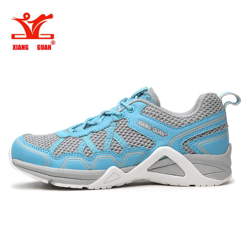 New Women Running Shoes XIANG GUAN Blue Walking Shoes Light weight Sneakers Lady Lace-up Shoes Breathable Zapato Size 36-39 Hot new fashion women led shoes camouflage pattern usb charging light up shoes breathable glow in the dark shoes blue gray