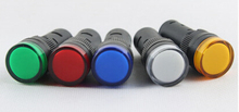 AC 220V  16mm LED Indicator Signal Light AD16-16C