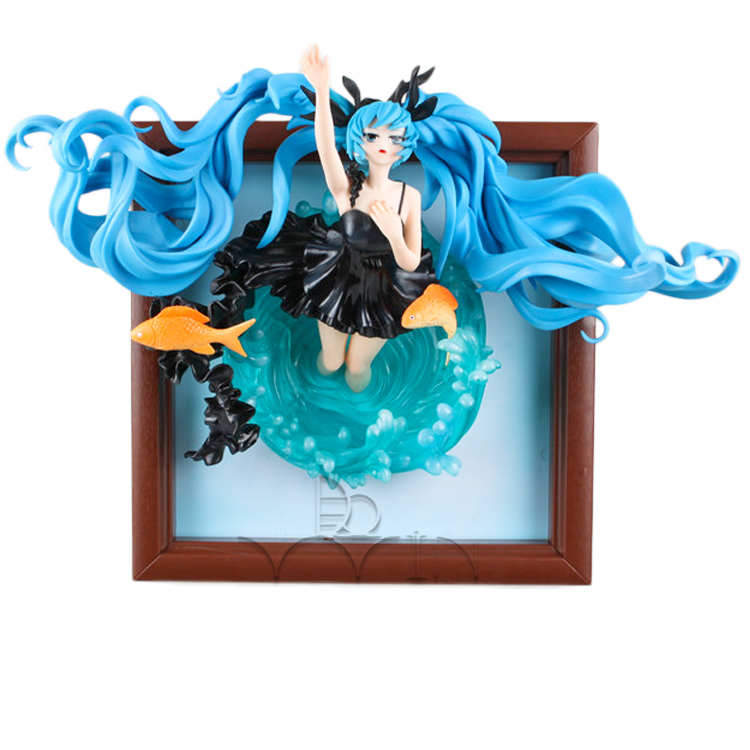 Anime Doll Hatsune Miku Deep Sea Girl Ver. 1/8 Scale Painted Action Figure Model Toy 23cm hot sale hatsune miku figure 24cmpvc tetsuya nomura comic figure animation periphery cute girl model freeshipping
