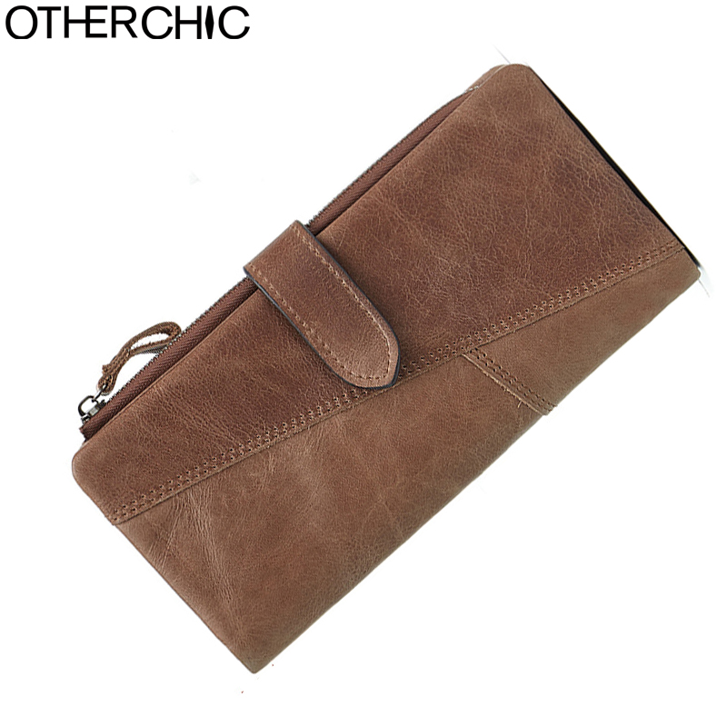 OTHERCHIC Real Leather Men Roomy Clutch Wallet Long Purse Man Card Holder Male Purses Vintage Clutch Wallets Men 17Y04-89 new arrival 2017 wallet long vintage man wallets soft leather purse clutch designer card holders business handbags clips