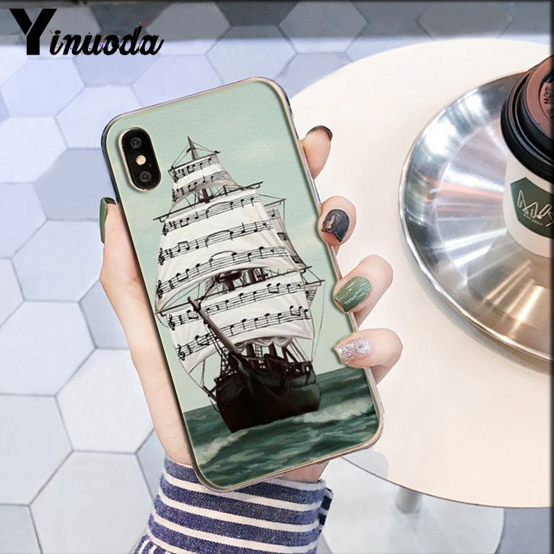 Image 5 - Yinuoda piano guitar music Newest Super Cute  DIY Phone Case cover Shell for Apple iPhone 8 7 6 6S Plus X XS MAX 5 5S SE XR-in Half-wrapped Cases from Cellphones & Telecommunications