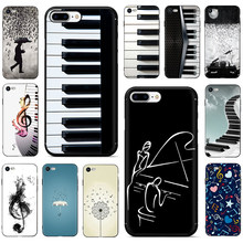Piano Musik Gitar Soft Phone Cover Case untuk iPhone 5 5S 6 6S Plus 7 7 Plus X XR X 11 Pro Max(China)