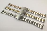 16mm T101210A T101217A Uhr Teile Männlichen modelle Goldene Armband Solide Edelstahl band Für T101210-in Uhrenbänder aus Uhren bei