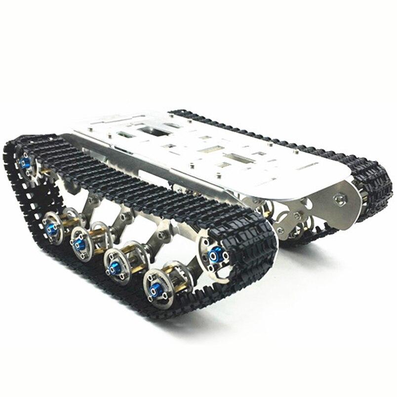 Intelligente RC Jouets En Alliage D'aluminium Châssis Kits pour Intelligent Robot Réservoir En Métal RC Voiture Sur Chenilles