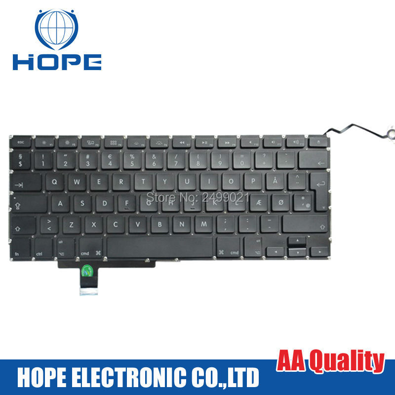 Original French Keyboard For Apple Macbook Pro 17'' A1297 France FR With Backlight 2009 2010 2011 2012