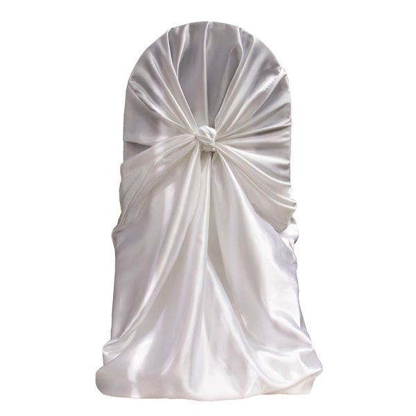 Wholesale Cheap Universal Satin Self Tie Chair Cover In