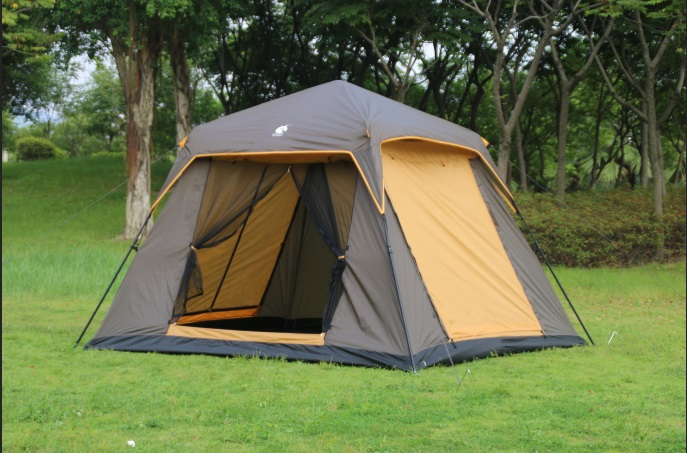 Outdoor tents more than 5 -6 people Korean pattern double layer four door ventilation sunshade tent camping tent automatic tent high quality outdoor 2 person camping tent double layer aluminum rod ultralight tent with snow skirt oneroad windsnow 2 plus