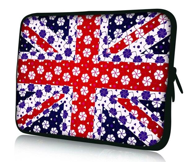 "UK Flag Neoprene15"" 15.6 Inch Notebook Laptop Case Sleeve"