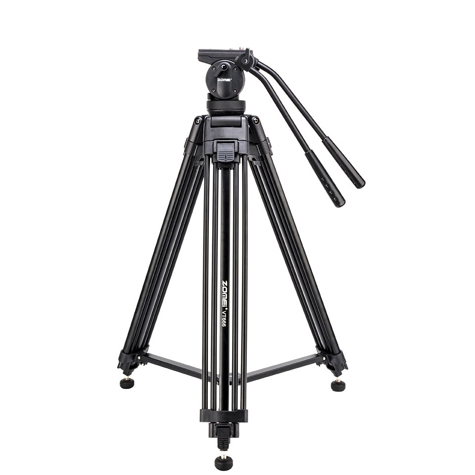 Zomei VT666 Tripode Professional Heavy Duty Stable Tripod Stativ With 360 Degree Panoramic Fluid Head For
