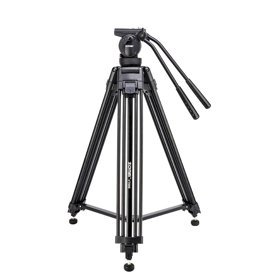 Zomei VT666 Tripode Professional Heavy Duty Stable Trépied Stativ Avec 360 Degrés Panoramique Tête Fluide Pour Caméra DV Caméscope