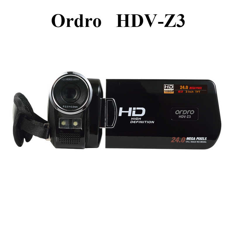 Ordro HDV-Z3 Professional Digital Camera 3.0inch Screen 16X Digital Zoom Camcorder Full HD 1080P Camera Video HDMI Hot Selling
