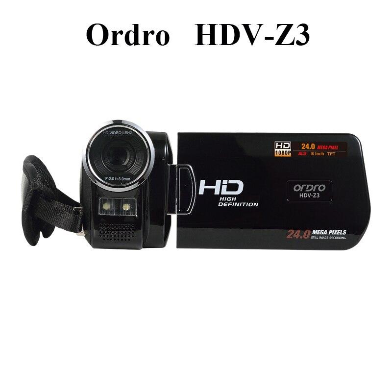 Ordro HDV-Z3 appareil photo numérique professionnel 3.0 pouces écran 16X Zoom numérique caméscope Full HD 1080 P caméra vidéo HDMI vente chaude