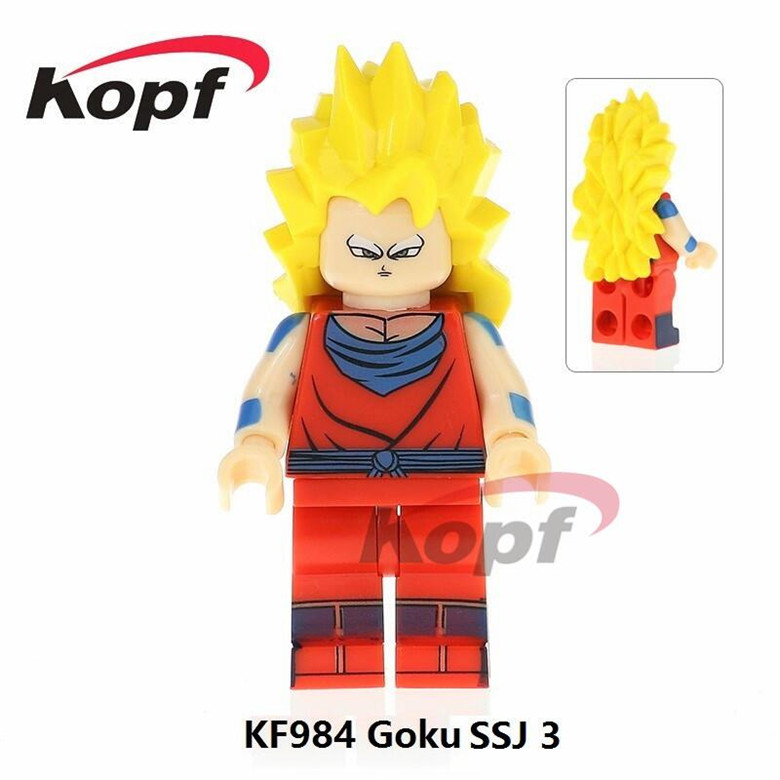 Single Sale Super Heores Launch Dragon Ball Z Figures Android 18 Kid Goku SSJ3 Freiza Building Blocks Children Toys Gift KF988