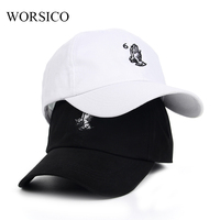 WORSICO Cotton Baseball Cap Women Hands together embroidery Curved Casual Snapback hat Adjustable Adult Cap