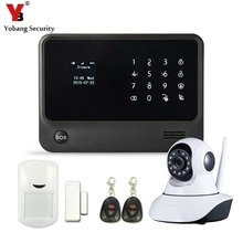 YobangSecurity Android IOS APP Touch Screen WIFI Wireless Alarm System LCD Display House Alarm GSM with Camera
