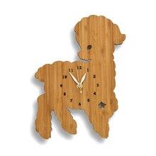 Fashion bamboo lamb wall clock child real wall surface decoration watch cartoon